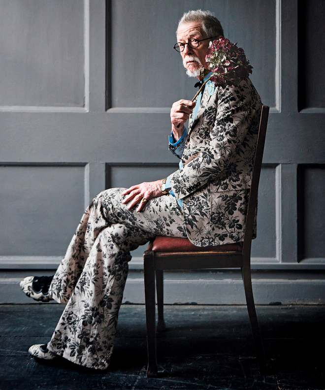 """John Hurt on style and LINDBERG in Financial Times' """"Wise Guise"""""""