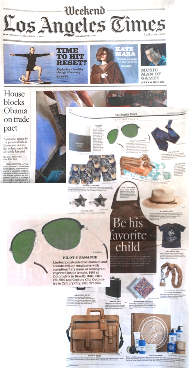 LINDBERG – a fashionable Father's Day gift on LATimes.com