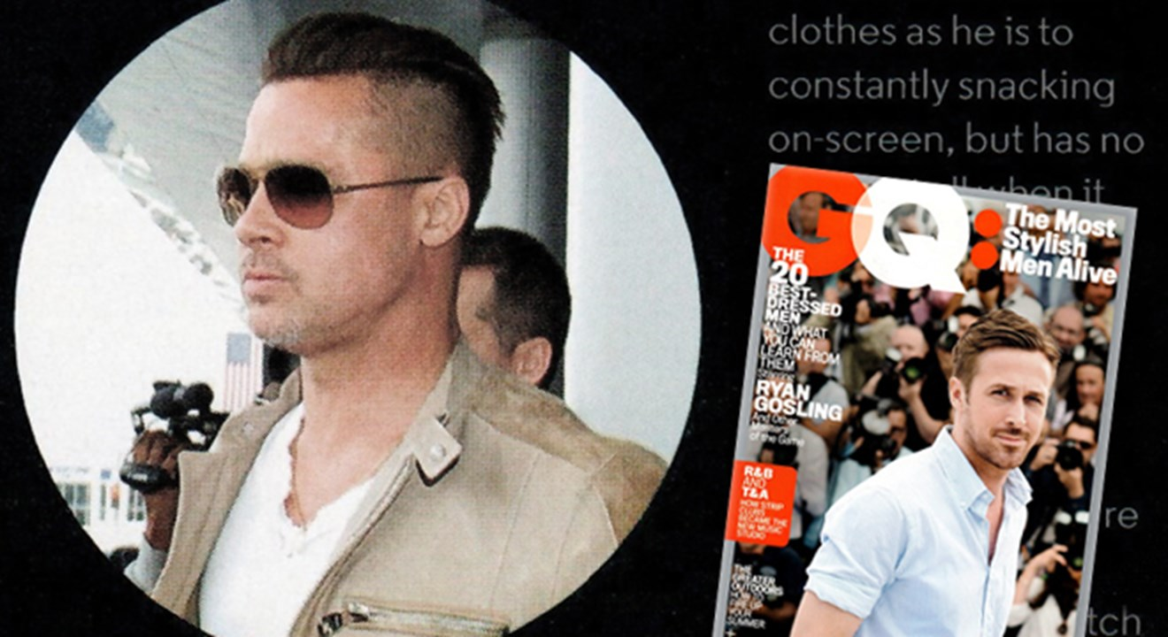 2070dfc969 GQ –  Most stylish men alive  – with Brad Pitt in his LINDBERG sunnies