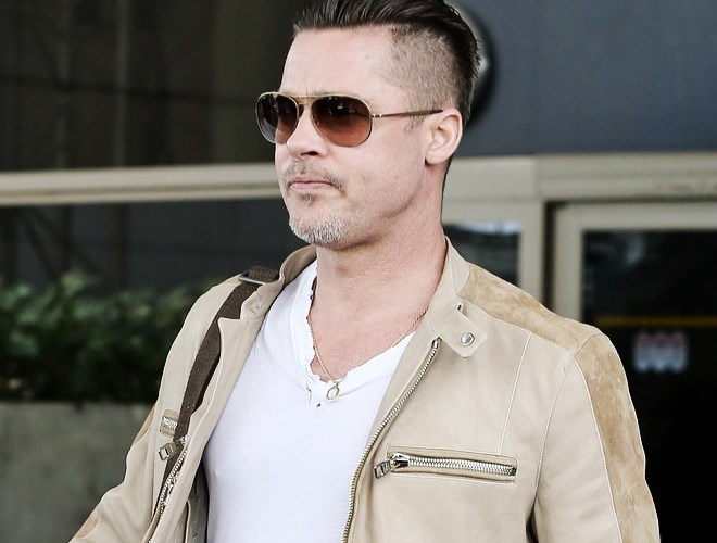 "GQ - ""most stylish men alive"" - with Brad Pitt in his LINDBERG sunnies"