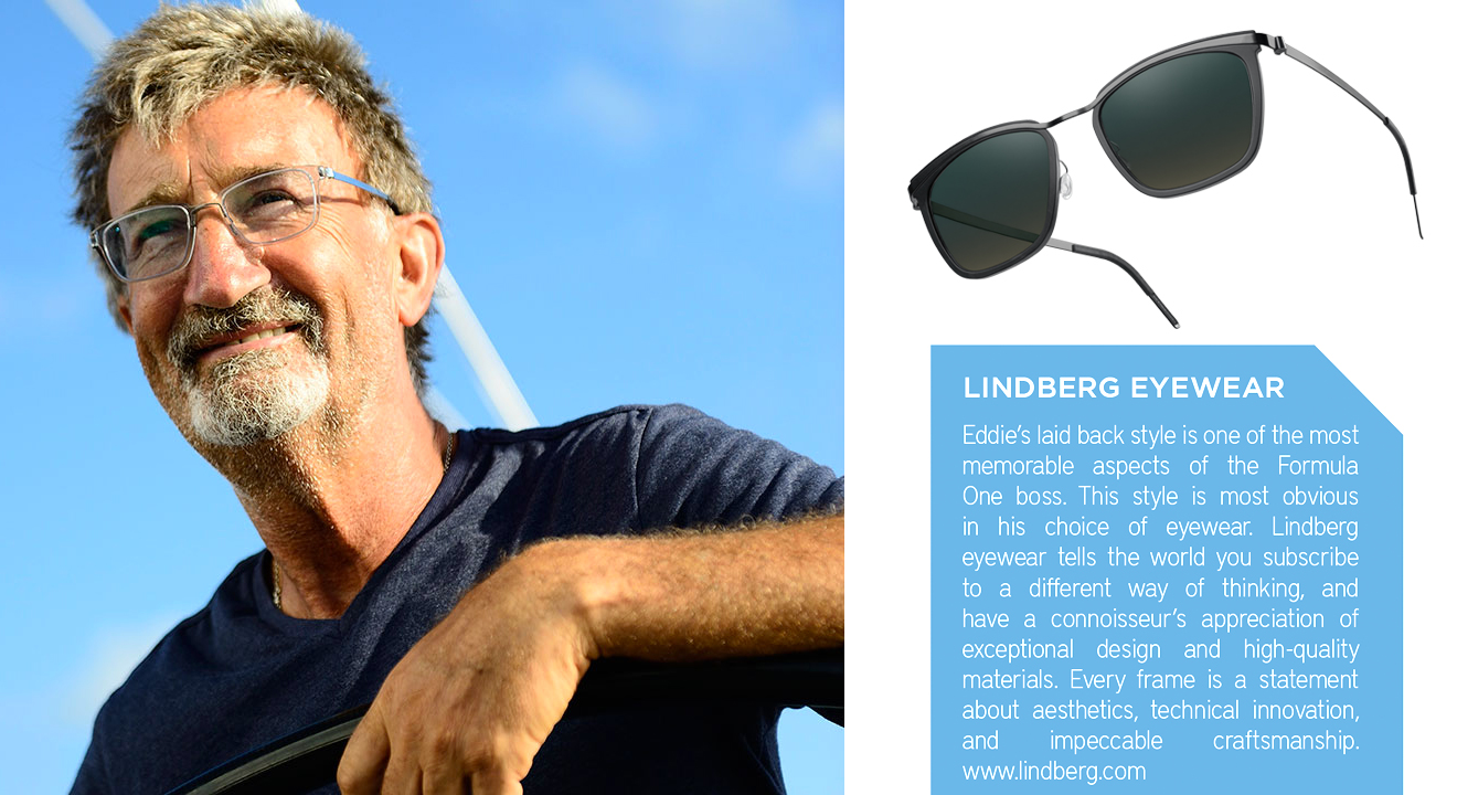 Irish Formula 1 guru Eddie Jordan and LINDBERG