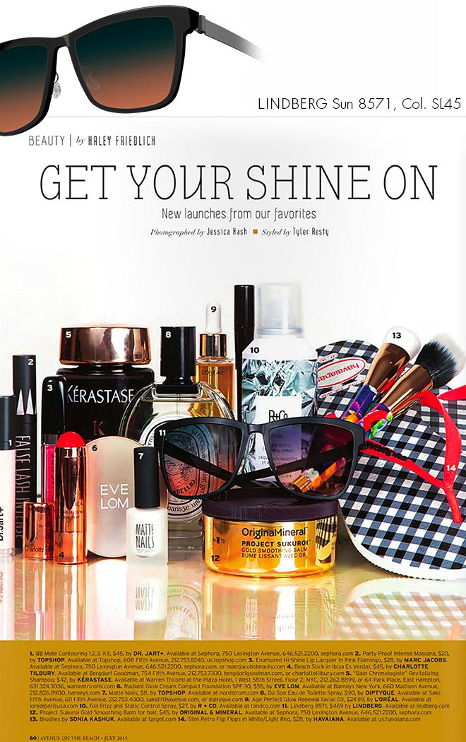 LINDBERG Sun shine in New York's Avenue Magazine