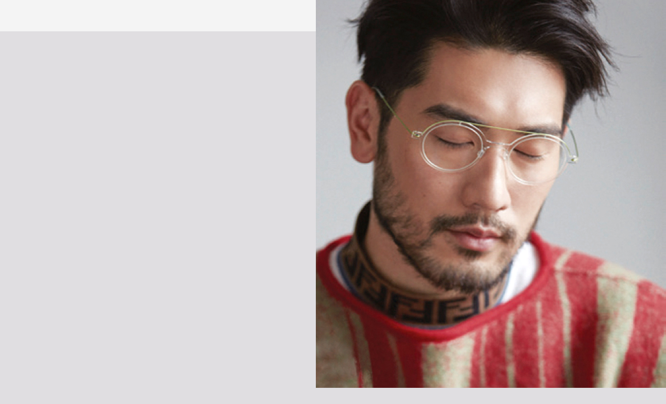 Godfrey Gao and LINDBERG in Wallpaper* China