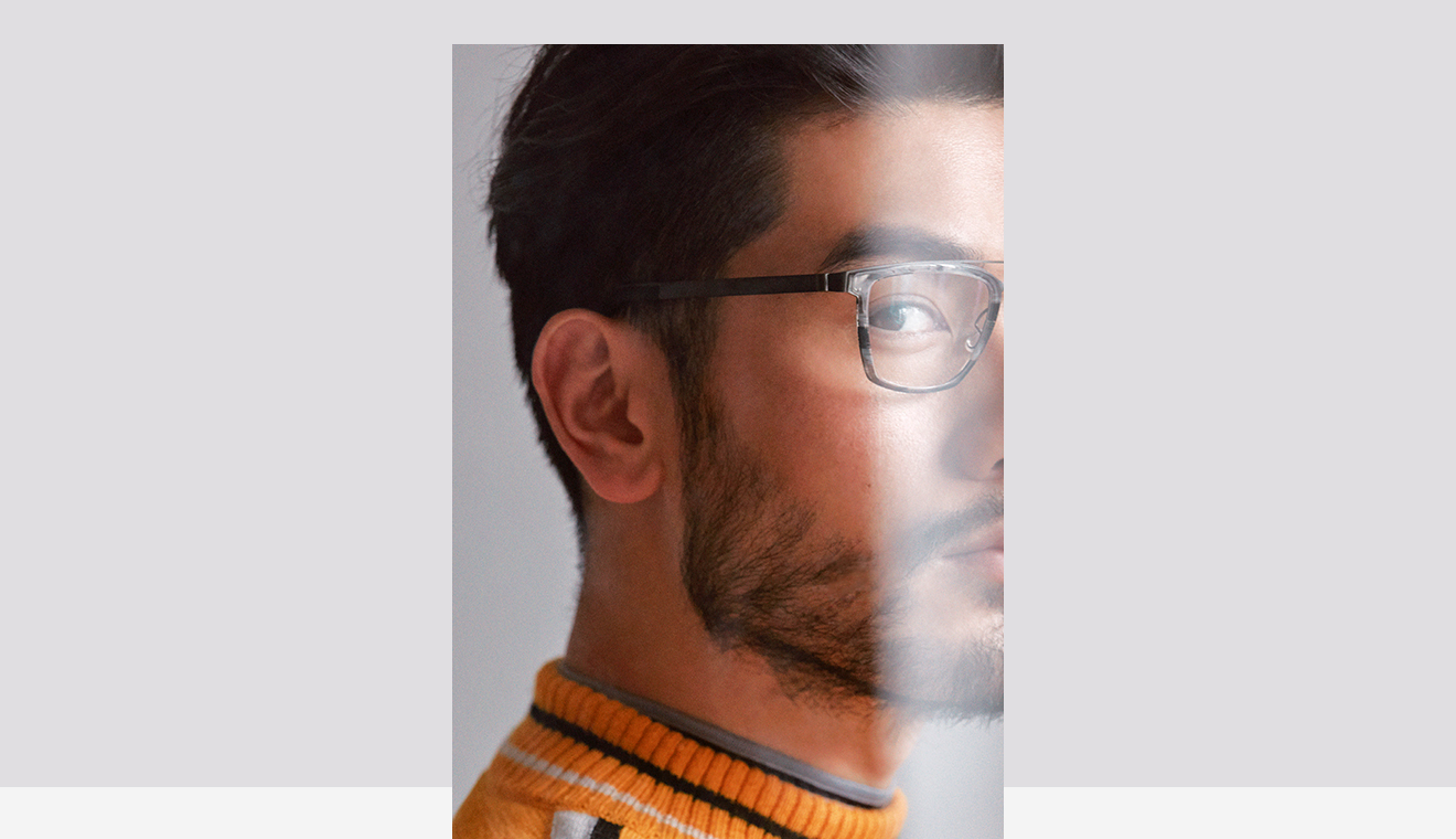 Scott Sternberg wearing LINDBERG Rim in GQ